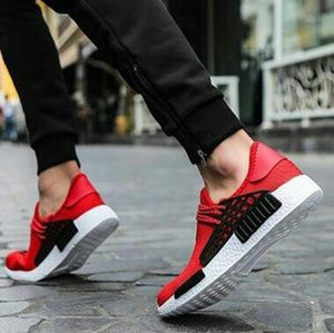 Red Human Race Sneakers